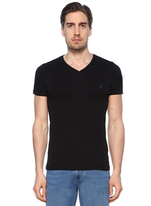 Beymen Club V Yaka Tişört Siyah